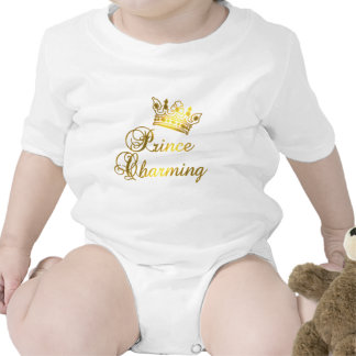Prince Charming in Gold T-shirt for Baby or Adult