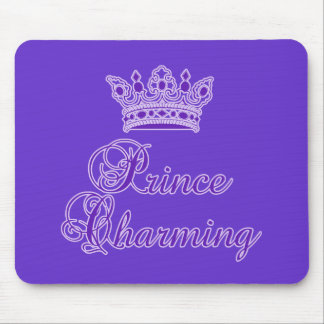 Prince Charming in Royal Purple for Baby or Adult Mouse Pad
