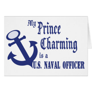 Prince Charming is U.S. Naval Officer Card