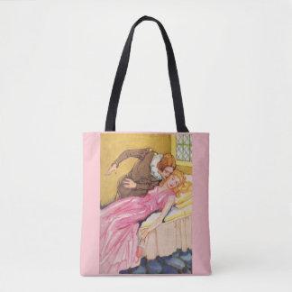 Prince Charming kissing Sleeping Beauty Tote Bag