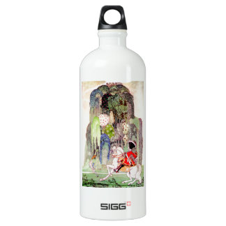 Prince Charming on his White Horse by Kay Neilsen Water Bottle