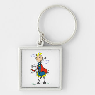 Prince Charming on Horse Keychain