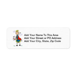 Prince Charming on Horse Return Address Label