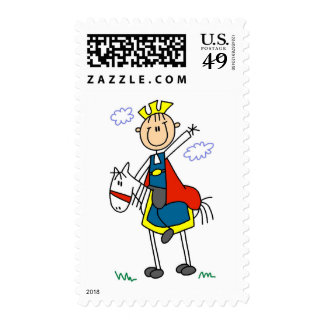 Prince Charming on Horse Tshirts and Gifts Postage Stamp