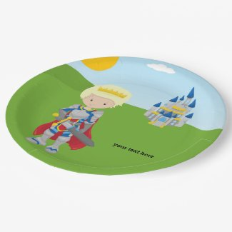 Prince Charming Paper Plate