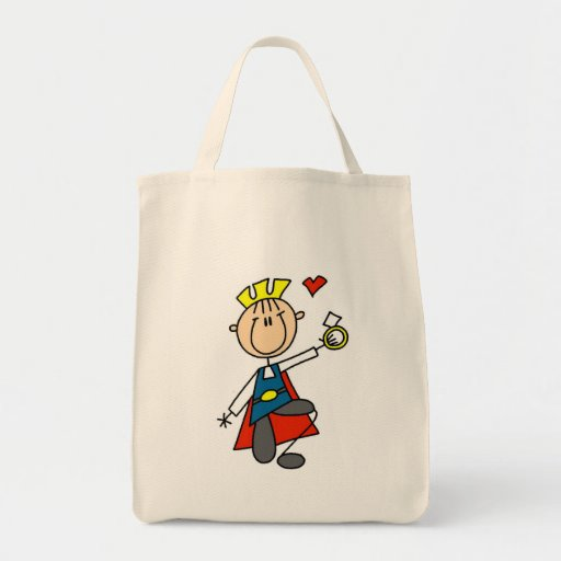 Prince Charming Proposes Marriage Canvas Bags
