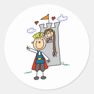 Prince Charming Rescues Rapunzel Sticker