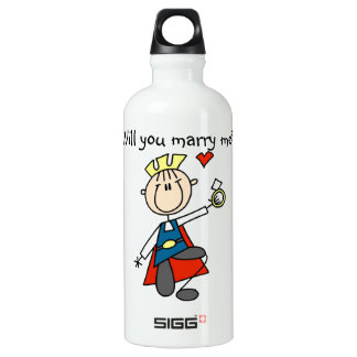 Prince Charming Will You Marry Me Aluminum Water Bottle
