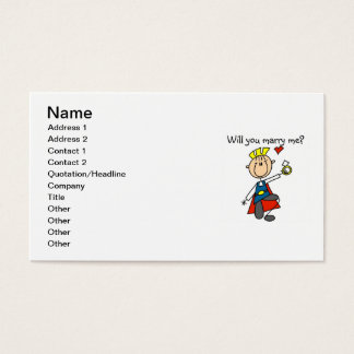 Prince Charming Will You Marry Me Business Card