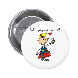 Prince Charming Will You Marry Me Button