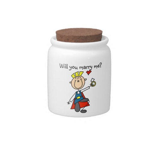 Prince Charming Will You Marry Me Candy Jar
