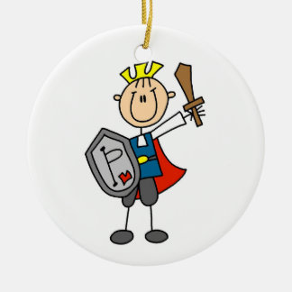 Prince Charming With Sword Ceramic Ornament