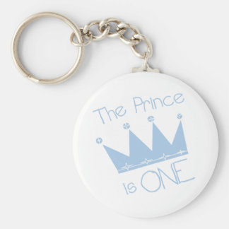 Prince Crown 1st Birthday Tshirts and gifts Keychain