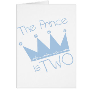 Prince Crown 2nd Birthday tshirts and Gifts Card