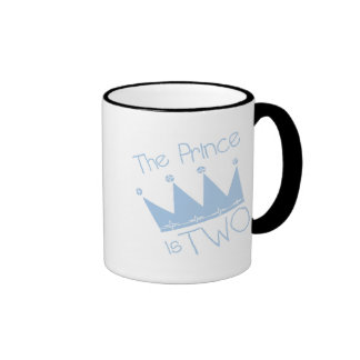Prince Crown 2nd Birthday tshirts and Gifts Ringer Coffee Mug