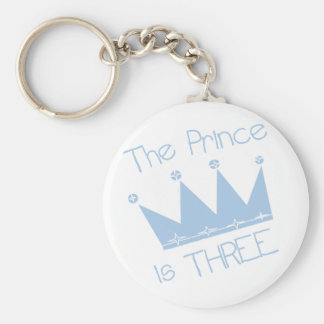 Prince Crown 3rd Birthday Tshirts and Gifts Keychain