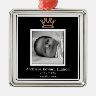 Prince Crown Baby Boy Photo Ornament