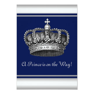 king crown invitations  announcements  zazzle, Baby shower invitations