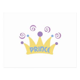 PRINCE CROWN POSTCARD