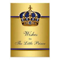 Prince Crown Wishes for Baby Boy Baby Shower Card
