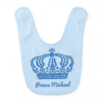 """Prince"" custom name baby bib"