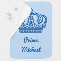 """Prince"" custom name baby blanket"