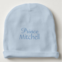 """Prince"" custom name infant hat"