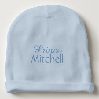 """Prince"" custom name infant hat"
