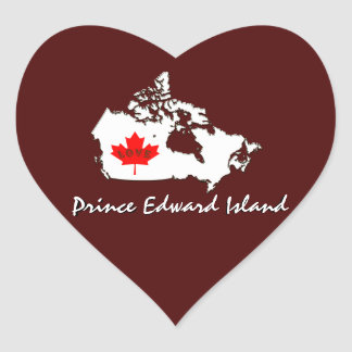Prince Edward Island Customize Canada Province Heart Sticker