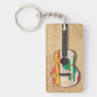 Prince Edward Island Flag Acoustic Guitar Keychains