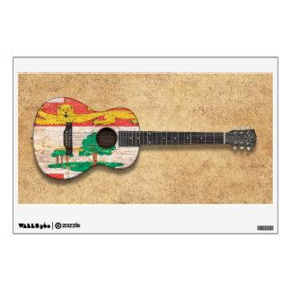 Prince Edward Island Flag Acoustic Guitar Wall Sticker