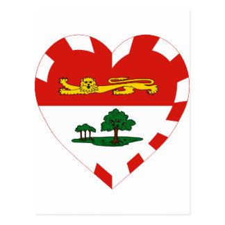 Prince Edward Island Flag Heart Postcard
