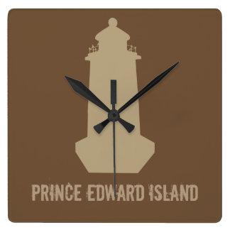 Prince Edward Island Lighthouse Square Wall Clock