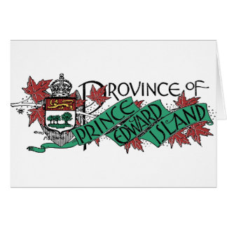 Prince Edward Island Vintage Coat of Arms Drawing Greeting Card