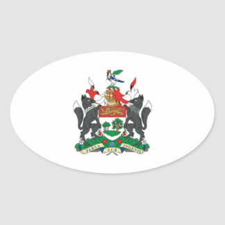 Prince Edward Islands (Canada) Coat of Arms Oval Sticker