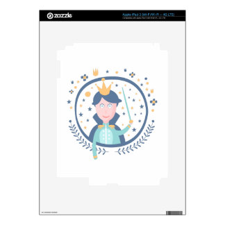 Prince Fairy Tale Character iPad 3 Decal