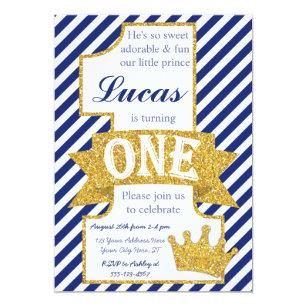 Prince 1st birthday invitations announcements zazzle prince first birthday invitation with envelopes filmwisefo