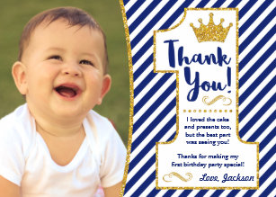 1st Birthday Thank You Cards Zazzle