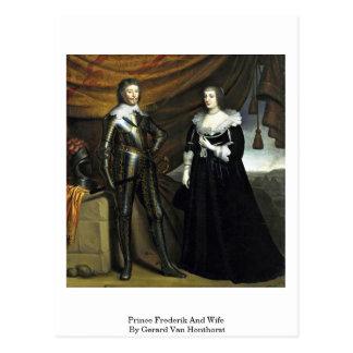 Prince Frederik And Wife By Gerard Van Honthorst Postcard