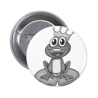 Prince frog 2 inch round button
