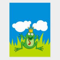 """Prince Frog 4.25"""" x 5.6"""" Postcard"""