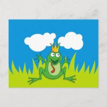 """Prince Frog 5.6"""" x 4.25"""" Postcard"""