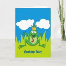 """Prince Frog 5"""" x 7"""" Holiday Card"""