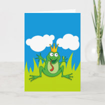 "Prince Frog 5"" x 7"" Holiday Card"