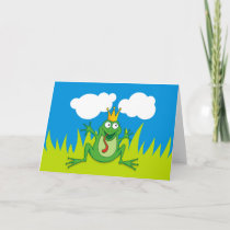 "Prince Frog 7"" x 5"" Holiday Card"