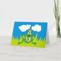 """Prince Frog 7"""" x 5"""" Holiday Card"""