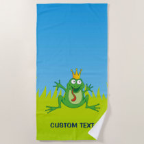 Prince frog beach towel