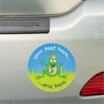Prince Frog Car Magnet
