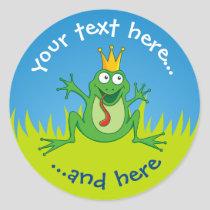 Prince Frog Classic Round Sticker