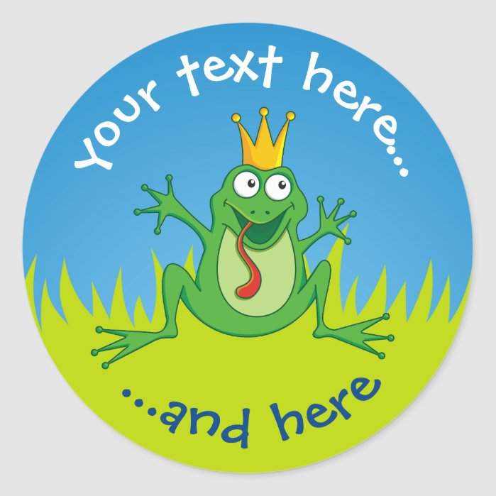 Prince Frog Classic Round Sticker